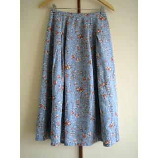 ローラアシュレイ(LAURA ASHLEY)のローラアシュレイ 花柄スカート サイズ9(ひざ丈スカート)