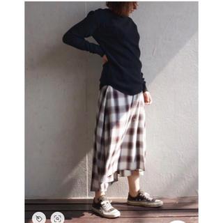フィーニー(PHEENY)のPHEENY ラップスカート ◇ オンブレチェック 青(ロングスカート)