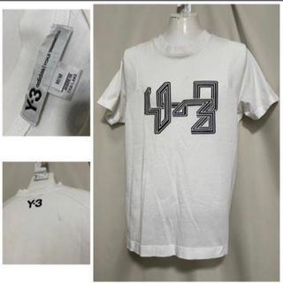 Y-3 - Y-3 yohji yamamoto 背面ロゴ Tシャツ 白 M カットソー