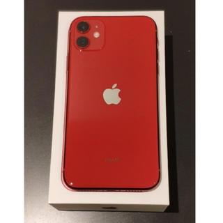 アイフォーン(iPhone)のiPhone11 64GB Red 本体 SIMロック解除済 au(スマートフォン本体)