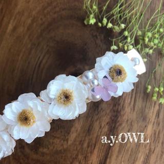 花かんざし*バタフライバレッタ(ヘアアクセサリー)