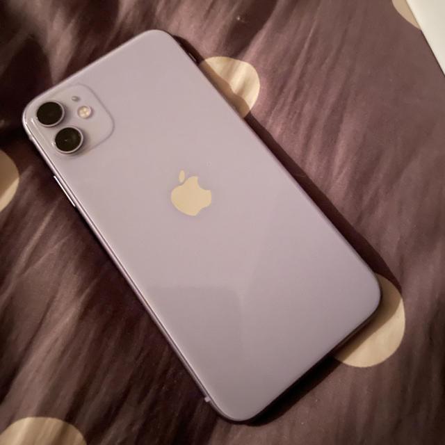 iPhone(アイフォーン)の「最終値下げ」iPhone 11 パープル 128g SIMフリー 本体 スマホ/家電/カメラのスマートフォン/携帯電話(スマートフォン本体)の商品写真