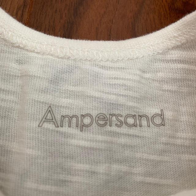 ampersand(アンパサンド)の美品70cm★ampersand フリルロンパース&チェックワンピース キッズ/ベビー/マタニティのベビー服(~85cm)(ロンパース)の商品写真