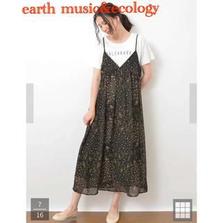 earth music&ecology ミックスフラワーキャミワンピース
