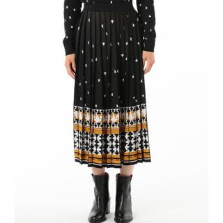 GRACE CONTINENTAL - グレースコンチネンタル・ダイアグラム・キカ柄ジャガードプリーツニットスカート