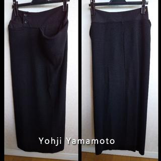 ヨウジヤマモト(Yohji Yamamoto)のYohji Yamamoto ヨウジヤマモト 切替えニットロングSK ペチおまけ(ロングスカート)