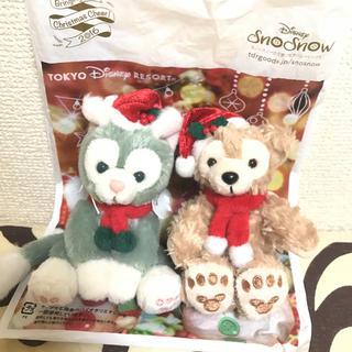 Disney - 2016年 クリスマス ダッフィー ジェラトーニ ストラップ キーホルダー