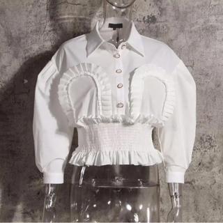 パメオポーズ(PAMEO POSE)のmiluさま専用 ウエストギャザーシャツ+ダブルバックルベルト(シャツ/ブラウス(長袖/七分))