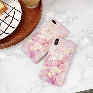 マーブルストーン iPhoneXS/X ケース TPU 大理石調 ピンク