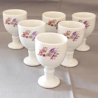 陶磁器/白磁/ショットグラス6個/酒器/食器(グラス/カップ)