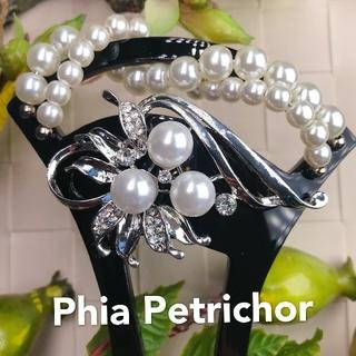 かんざし 髪飾り パール 簪 着物X2010254 留袖 結婚式 成人式 訪問着(ヘアピン)
