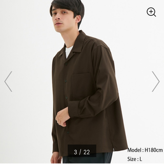 GU - GU/厚手シャツ/スプリングジャケット