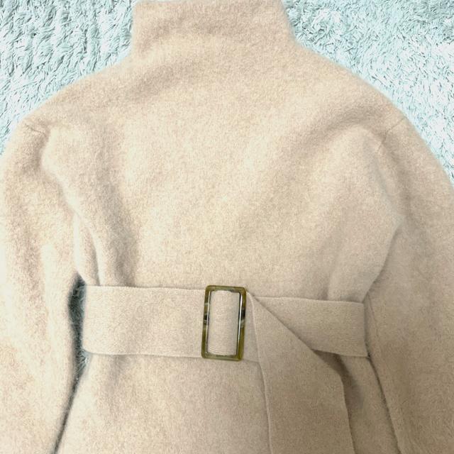 snidel(スナイデル)のSNIDEL ベルティッドラクーンニットワンピ ース レディースのワンピース(ひざ丈ワンピース)の商品写真