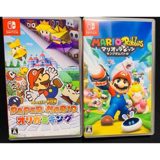 ニンテンドースイッチ(Nintendo Switch)のペーパーマリオオリガミキング Switch マリオ+ラビッツキングダムバトル(家庭用ゲームソフト)