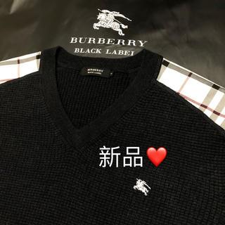 BURBERRY - 新品 バーバリーブラックレーベル 羊毛セーター 3