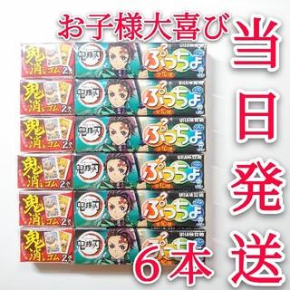 ユーハミカクトウ(UHA味覚糖)の鬼滅の刃 ぷっちょ⭐6本セット 限定キャラ消しゴム付き 文房具(菓子/デザート)