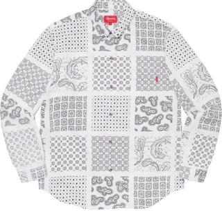 シュプリーム(Supreme)のSupreme Paisley Grid Shirt white Large(シャツ)