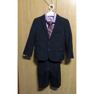 コムサイズム(COMME CA ISM)のkids上下スーツ110㎝&ネクタイ付きシャツ120㎝(ドレス/フォーマル)