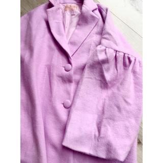 ハニーミーハニー(Honey mi Honey)のハニーミーハニー★ 袖がかわいいピンクのロングコート 完売品 かわいいです!(ロングコート)