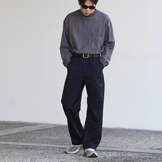 1LDK SELECT - order loose twill pants O 代官山