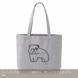 フェリシモ(FELISSIMO)の松本 セイジさんのイラストを縁取る 刺しゅうトートバッグキット(トートバッグ)