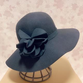 インゲボルグ(INGEBORG)のインゲボルグ ハット 帽子 女優帽 黒(ハット)