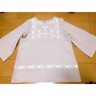 ミスティック(mystic)の刺繍♡8分丈トップス(カットソー(長袖/七分))