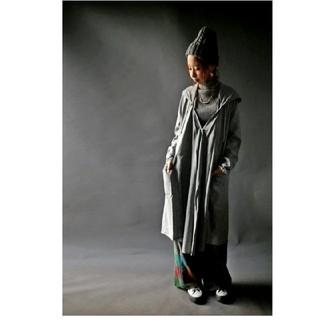 アンティカ(antiqua)の新品未使用 アンティカ モードフーデット羽織り(ロングコート)