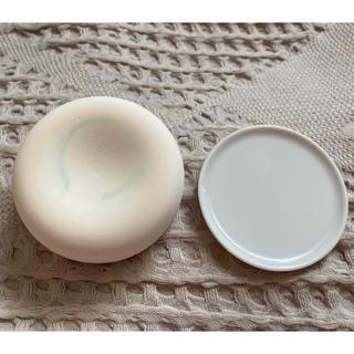 MUJI (無印良品) - 無印良品/アロマストーン 皿付・白