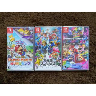 Nintendo Switch - スマブラ マリオカート8 ペーパーマリオ Switchソフト 3本セット