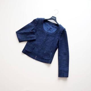 ANAYI - ■アナイ■ 36 ネイビーツイード ショートジャケット