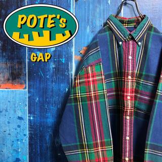 GAP - 【オールドギャップGAP】ポケットレトロタータンチェックシャツ 90s