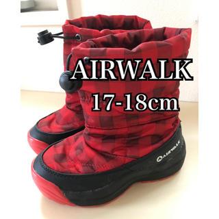 エアウォーク(AIRWALK)のAIR WALK キッズ スノーブーツ 17 18cm チェック 赤 キッズ(ブーツ)