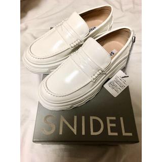 snidel - 【snidel】Sサイズ ホワイト プラットフォームローファー