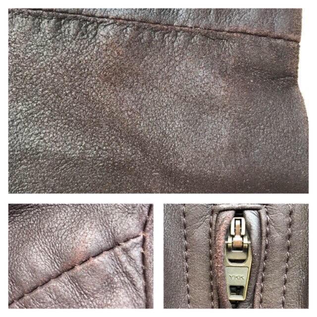 23区(ニジュウサンク)の23区 レザージャケット ライダース レディース ダークブラウン 38 レディースのジャケット/アウター(ライダースジャケット)の商品写真