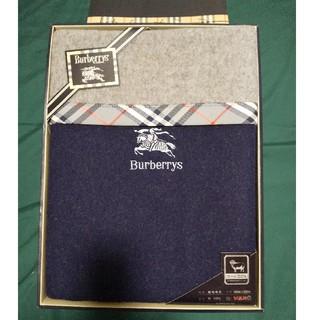BURBERRY - 希少 バーバリー 純毛毛布