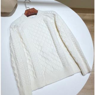 Max Mara - Max Mara ホワイト ニット セーター