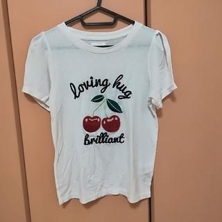 レトロガール(RETRO GIRL)のさくらんぼ柄ロゴTシャツ(Tシャツ(半袖/袖なし))