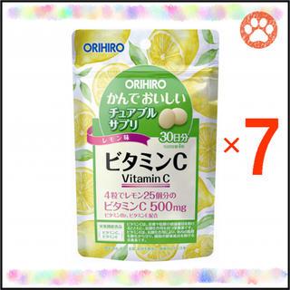 """オリヒロ(ORIHIRO)のオリヒロ かんでおいしいチュアブルサプリ """"ビタミンC"""" 30日分×7袋(ビタミン)"""