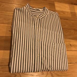 MUJI (無印良品) - アメリカンホリック シンプルなストライプシャツ
