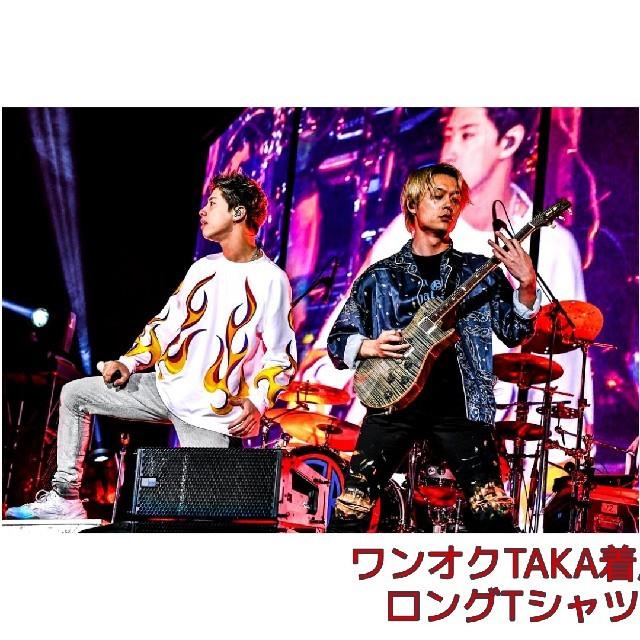 OFF-WHITE(オフホワイト)の【限定価格】ONE OK ROCK  TAKA着用  ロングTシャツ メンズのトップス(Tシャツ/カットソー(七分/長袖))の商品写真