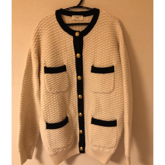 IENA(イエナ)のIENA   タック編みトリミングカーディガン レディースのトップス(カーディガン)の商品写真