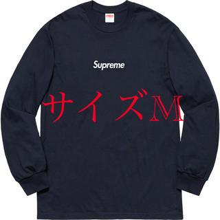 シュプリーム(Supreme)のSupreme Box Logo L/S Tee ネイビー M(Tシャツ/カットソー(七分/長袖))