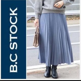 IENA SLOBE - B.C STOCK 起毛シャンブレープリーツスカート