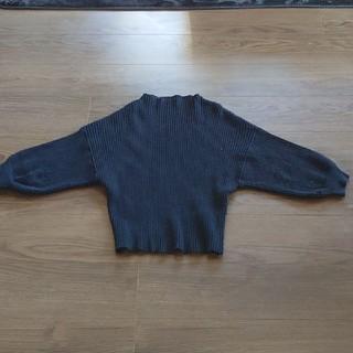 カワイイ(cawaii)のcawaii  カワイイ 人気ぽわん袖リブニットトップス ブラック(ニット/セーター)