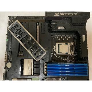 エルジーエレクトロニクス(LG Electronics)のi7-4770k、メモリ32GB、ASUS SABERTOOTH Z87セット(PCパーツ)