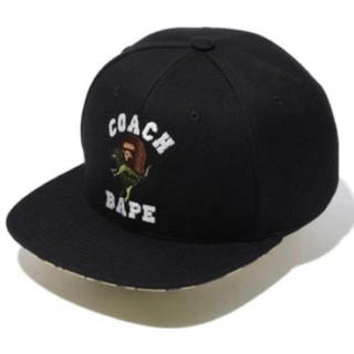 A BATHING APE - BAPE X COACH BASEBALL CAP 新品 ブラック ベイプコーチ