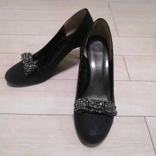 DIANA - 【極美品】ハイヒール パンプス ラメ ブラック ドレスシューズ 黒 24.5