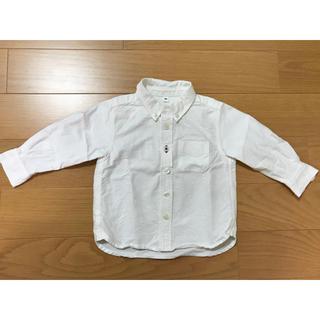 ムジルシリョウヒン(MUJI (無印良品))のキッズ 白シャツ 80センチ 無印(シャツ/カットソー)