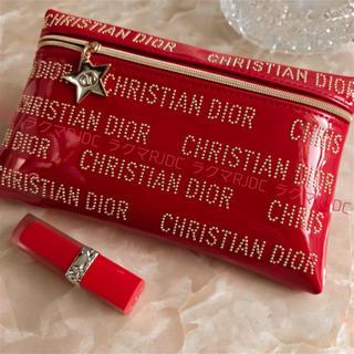 Christian Dior - 【新品未使用】ディオール 2020 CNY エナメル調 スリムポーチ 海外限定